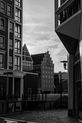 Historic Zaandam (d0mokun) Tags: bw europe holland nl netherlands architecture blackandwhite buildings canals cities city cityscape cultural culture grey greyscale historic history monochrome typical urban zaandam northholland
