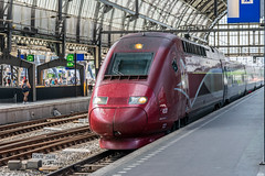 TGV (d0mokun) Tags: centraal europe holland nl netherlands tgv architecture buildings canals cities city cityscape cultural culture highspeed historic history loco locomotive locomotives railways station train trains trainspotting trein treins typical urban amsterdam northholland thalys