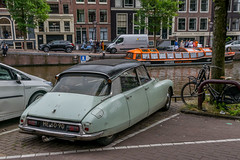 Citroen (d0mokun) Tags: citroen ds europe holland nl netherlands architecture buildings canals car cars cities city cityscape classic cultural culture historic history petrolhead typical urban amsterdam northholland
