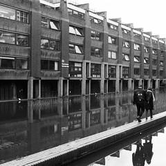 (a.pierre4840) Tags: olympus om3 zuiko 35mm f28 35mmfilm ilford ilfordhp5 hp5 hp5plus bw blackandwhite noiretblanc architecture reflections lines london england squareformat 11