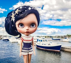 Ahoy sailor! ☺️                                                       Mini vacation by the sea❤💙🚢☀️ . #blythe #customblythe #blythedoll #blytheclothes #dollclothes #crochet #crochetdollclothes #crochetblytheclothes (Dolliina) Tags: blytheclothes blythe crochet customblythe crochetdollclothes crochetblytheclothes blythedoll dollclothes