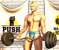 No Pain No Gain (CodyAdored) Tags: noche second life virtual male fashion men mens cody adored work out jockstrap