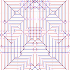 Demoness - Crease Pattern (Bart Davids) Tags: demon demoness female wings angel devil pitchforks brimstone whahahaha origami complex crease pattern colour change box pleat 48x48