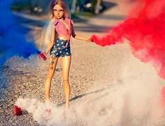 July4 (Rebecca in FL) Tags: july4th smokebombs red whiteandblue bjd doll minifee mirwen angeltoast nikon d3400