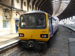 144017 at York (4/7/19) (*ECMLexpress*) Tags: arriva northern class 144 pacer dmu 144017 york ecml