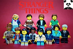 Stranger Things have happened... (HaphazardPanda) Tags: lego figs fig figures figure minifigs minifig minifigures minifigure purist purists character characters films film movie movies tv chief hopper will byers eleven lucas sinclair mike wheeler dustin henderson joyce dr brenner jim barb holland nancy jonathan steve harrington barbara stranger things season 3