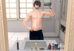 Just Wanna (EnviouSLAY) Tags: cheerno navyblue navy blue towel naked shower bathroomscene bathroom scene secondlifefashion secondlifephotography brunette modulus hairdryer hair dryer chubby flesh newreleases new releases fameshed tmd themensdepartment the mens department belleza jake bento lelutka andrea letre monthlyevent monthlymen monthlyfashion monthlyfair mensmonthly mensevent mensfair mensfashion monthly fair event fashion pale male gay lgbt blogger secondlife second life photography