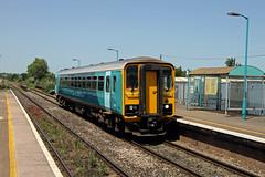 153312 Ninian Park (CD Sansome) Tags: station train trains tfw transport for wales arriva keolis amey ninian park cardiff sprinter 153 153312