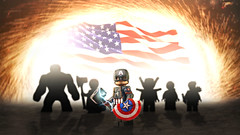 Happy 4th of July 2019! (MGF Customs/Reviews) Tags: lego captain america chris evans steve rogers happy 4th july avengers custom figure minifigure