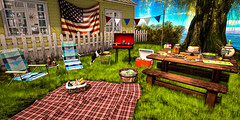 Backyard BBQ (AlyceAdrift) Tags: 4th july independence day patriot patriotic secondlife summer bbq picnic american flag backyard lounge blogger happybirthdayamerica america landofthefree freedom letfreedomring independenceday 2019
