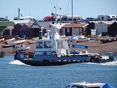 Teign C (THC) (MMSI: 235082804) 14m Damen Stan Tug / dredge bed leveller, with limited fire fighting capacity. Call Sign:  MWBM9 (guyfogwill) Tags: guyfogwill guy fogwill unitedkingdom boats devon bateau shaldon riverteign teignmouth boat gbr england greatbritan river dredger spring tugboat july teignc harbour bateaux teignestuary hookbrothers europe summer southwest uk mmsi235082804 mwbm9 tq14 teignbridge workboat teignmouthapproaches 2019 thc teignmouthharbourcommission nautical sony dschx60 vessel coastal marine maritime port tug damenstan flicker photo interesting absorbing engrossing fascinating riveting gripping compelling compulsive beach vacances water coastline plage