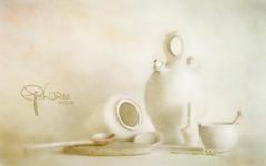 pottery - impression (Ephorea) Tags: still life kitchen pottery texture structure white decoration interior