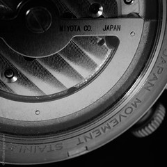 Rotor (Bill Herndon) Tags: 8245 dcg9 districtofcolumbia flickr japan lumix miyota panasonic petworth unitedstates washington automatic movement published watch wrherndon blackandwhite bw monochrome macro square 1x1 11