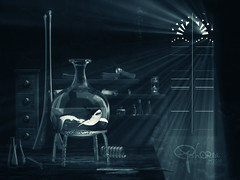 in the dark (Ephorea) Tags: dark subconscious shark alchemy potion light shadow laboratoy inside monster interior sinister beam transformation ascent aurumaurorum aurum aurorum night twilight black ephorea ray gloom obscurity eclipse