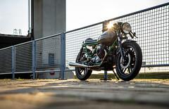 Moto Guzzi V50 I Cafe Racer (bramtop_1990) Tags: caferacer cafe racer moto guzzi v50 1979 rebuilt bike sun prinses maxima sluizen evening sundown oldskool lith netherlands nederland holland dutch nikon d610 tamron 2470mm f28 g2 a032n