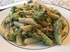 Rigatoni (corn/rice) with broccoli, goat cheese, and toasted almonds (TomChatt) Tags: food glutenfree parttimevegetarian homecooking