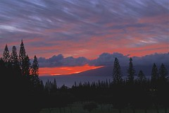 Sunset From Maui Balcony (sswj) Tags: cookpines maui molokai hawaii sunset availablelight existinglight naturallight viewfrombalcony composition scottjohnson leica dlux4 abstractreality landscape