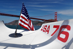 My Country, Not My President (AGrinberg) Tags: 71438usa76flag usa76 american flag goldengate bridge americascup sailboat sailing drumpf july4 independence day red white blue