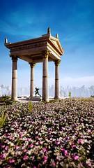 Elysian Palace (ilikedetectives) Tags: assassinscreed assassinscreedodyssey acodyssey greekmythology ancientgreece gaming gamecaptures game ingamephotography videogames virtualphotography screenshot ubisoft ubisoftquebec palace nature flowers scenery