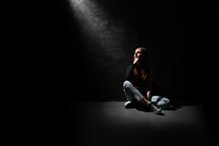 beth in the dark (englishgolfer) Tags: portrait studio woman dark black hard light nikon d7500 tamron 1750mm