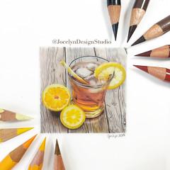 Iced Tea!❄️☕️ (JocelynDesignStudio) Tags: food lemons tea icedtea colddrink beverage coloredpencil pencildrawing pencilart drawing