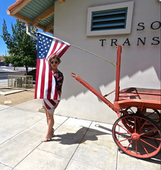 Debbie & Stars & Stripes at Tucson RR Museum - September 14th, 2017 (Chic Bee) Tags: debbie granddaughter starsstripes tucson railroadmuseum arizona usa declarationofindependence 1776 continentalcongress fourthofjuly independence day holiday