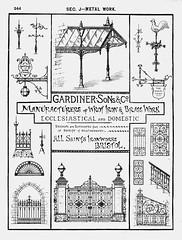 Gardiner, Sons, & Co., Bristol. 1893 (growlerthecat) Tags: wroughtiron ironwork metalwork gate fencing gardiner bristol