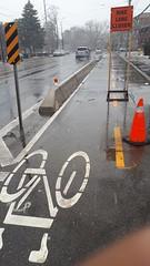 IMG_20180406_113247 (TO_Transportation) Tags: lakeshore cycletrack linemarking signage workzone