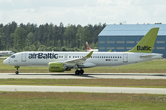 YL-AAS | Air Baltic | Airbus A220-300 | CN 55054 | Built 2019 | RIX/EVRA 09/06/2019 (Mick Planespotter) Tags: aircraft airport 2019 plane planespotter airplane aeroplane spotter nik sharpenerpro3 ylaas air baltic airbus a220300 55054 rix evra 09062019 a220 riga
