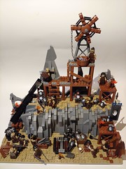 Orc Forges of Isengard (ilikeleggo) Tags: lego lotr lord rings middle earth isengard fellowship ring two towers moc creation return king