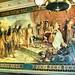 Columbus greeted by King Ferdinand and Queen Isabella upon his return to Spain from the New World - Mural on the Great Hallway of  Administration Building - University of Notre Dame