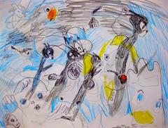 A Blue Black Day (giveawayboy) Tags: pencil crayon ballpoint pen drawing sketch art fch tampa artist giveawayboy billrogers blue black day summer fall borderland autumn vernal autumnal storm rainstorm rain weather imagination coloredpencil ghoststories mystery wonder dogdays