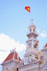 Old architecture (seokanghoo) Tags: saigon summer building city vietnam flag beautiful