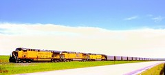 Coal Train/Somewhere in Wyoming or Nebraska (THE RESTLESS RAILFAN) Tags:
