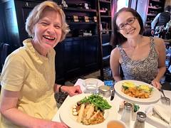Barbara & Yoko in Mon Ami Gabi (JuhaOnTheRoad) Tags: washingtondc woman girl bethesda maryland restaurant