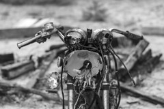 Cape Cod Motorcycle (davidhangell) Tags: nikon cape cod massachusetts d5300 nikkor blackandwhite 50mm