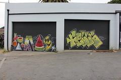(Laugh now, smile later) Tags: graffiti bayarea eastbay oakland peas fells thr btm