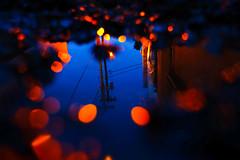 182/365 (local paparazzi (isthmusportrait.com)) Tags: 365project fujixpro2 fujixf18mmf2 fuji xf 18mm f2 lowlight lopaps pod 2019 redskyrocketman localpaparazzi isthmusportrait madisonwisconsinphotographer madisonwi danecountywisconsin afterdark darkness dark handheld fujiraw adobephotoshopcc bokeh dof miniature little puddle reflect reflecting reflections reflected blue orange glow iso800 noise grain parkinglot randomparkinglot powerlines slowshutterspeed thankgoodnessforrecuva recuva accidentallyformatted