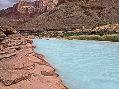 Little Colorado River confluence - view looking upriver (Al_HikesAZ) Tags: alhikesaz az arizona grandcanyon grand canyon rafting coloradoriver colorado river raft arizonaraftingadventures azra littlecoloradoriver navajo sacred sipapu turquoise waters confluence