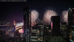 Macy's 2019 July 4 Fireworks (20190704-DSC01084) (Michael.Lee.Pics.NYC) Tags: newyork macys fireworks july4 independenceday night lowermanhattan eastriver brooklynbridge manhattanbridge aerial hotelview millenniumhilton architecture cityscape sony a7rm2 zeissloxia21mmf28