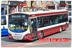 LOTHIAN BUSES 166 SN58BYT (SCOTTISH BUS ARCHIVES) Tags: 166 lothianbuses wright sn58byt volvob7rle