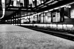 Transition (Out Of The Map) Tags: athens greece europe trip explore greek urban street amazing beautiful black white bw monochrome metro train station waiting passenger lights travel rails