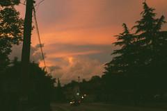 Street... (dark.indigo) Tags: street urban car sunset clouds tree fuji fade fated cinema cinematic warm analog retro grain