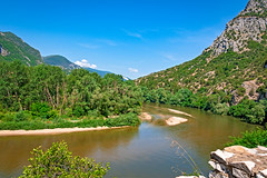 Top sights: Nestos river in Toxotes Xanthi, Greece (mare_maris) Tags: mountains river nestosriver topsights straitsofnestos aestheticforest beautiful environment forest greece landscape mountain nature narrowvalley valley magical brackishlagoons riversideforest outdoor daylight park rocks scenery scenic summer tourism travel view water colors green blue orange destination hellas toxotes xanthi maremaris nikon photography
