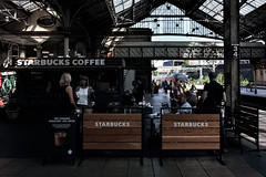 Starbucks Have It (whosoever2) Tags: preston lancashire england uk gb greatbritain unitedkingdom railway station starbucks coffee shop virgin trains pendolini class390 passenger traveller