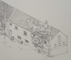 325 Whapload Road, Lowestoft (WiP 6): Completed pencil drawing, right-hand end