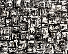 Subversive (@WineAlchemy1) Tags: leekrasner art painting abstractexpressionism artist barbicangallery london littleimages whitesquares blackandwhite monochrome noiretblanc nerosubianco blancoynegro