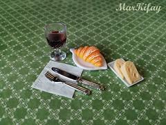 breakfast aristocrat (MarKifay) Tags: breakfast drink house miniature puppet 16 doll clay polymer food
