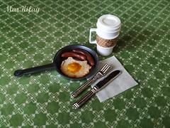 real man's breakfast (MarKifay) Tags: food polymer clay doll 16 puppet miniature house drink breakfast dolls