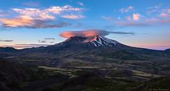 Mount St. Helens Sunrise (Eric Hines Photography) Tags: mtsthelens mountsthelens washington landscape sunrise nature volcano spring clouds lenticularcloud lenticular nikond810 nikon1424mmf28 nikon